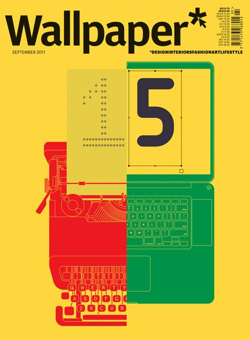 Wallpaper* 15th anniversary cover by Build. Tasty.