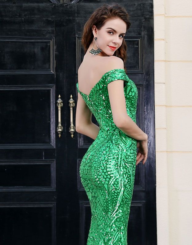 Rochie sirena verde Emperor Collection ORD2-b