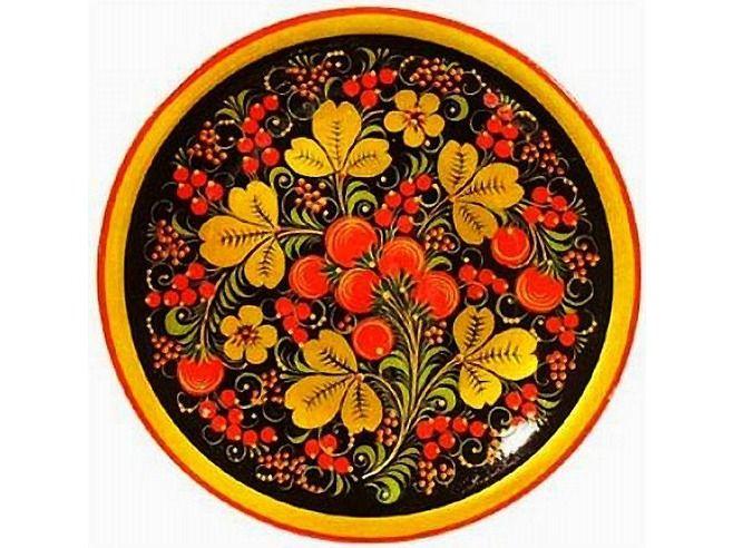 Russian traditional Hohloma ornament