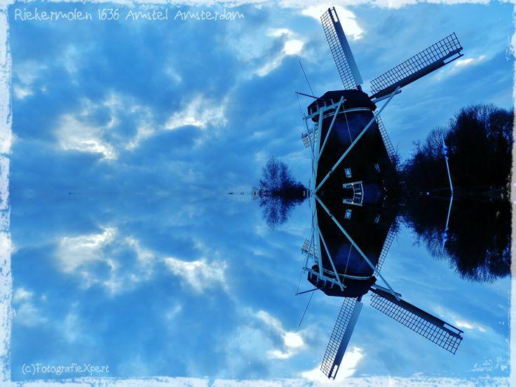 Riekermill at the Amstel river #picsart #Delfts Blue