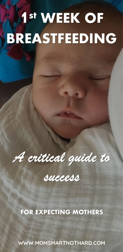 Breastfeeding tips for the newborn baby, everything you need to know about breastfeeding a newborn. How to get a good latch, how to notice hunger cues, what to track with your newborn, and information about when your milk comes in. via @momsmartnothard