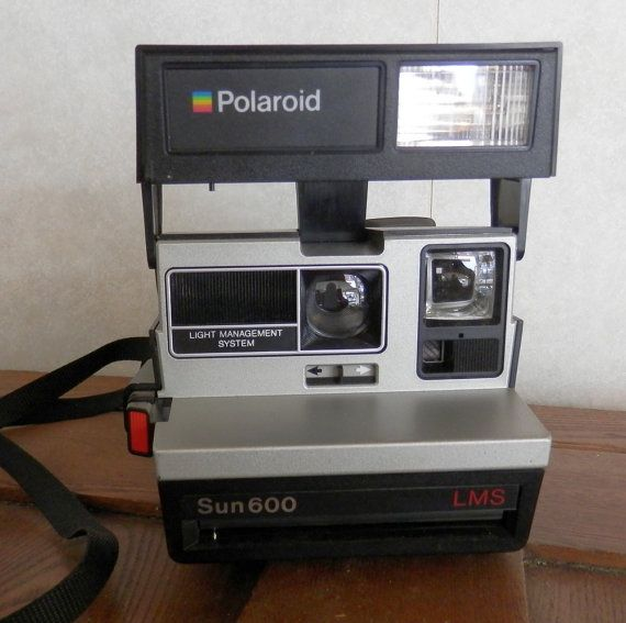 vintage polaroid sun 600 lms camera by BandCEmporium on Etsy