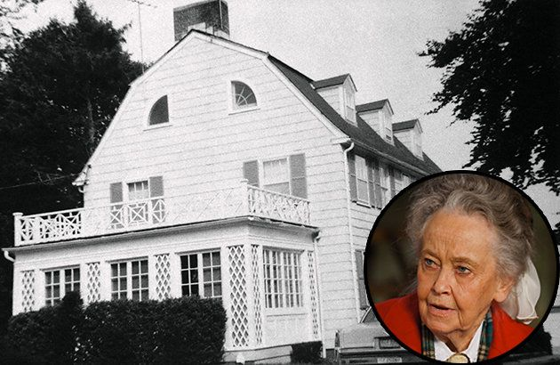 High Hopes at 112 Ocean Ave. in Amityville, New York (photo by Corbis) and Lorraine Warren (photo by Warner Bros.) Lorraine Warren states in the article this is the one haunted house she would never go back in!