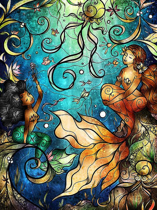 """Pisces:  #Pisces ~ """"Under the Sea,"""" beautiful digital painting by Mandie Manzano."""