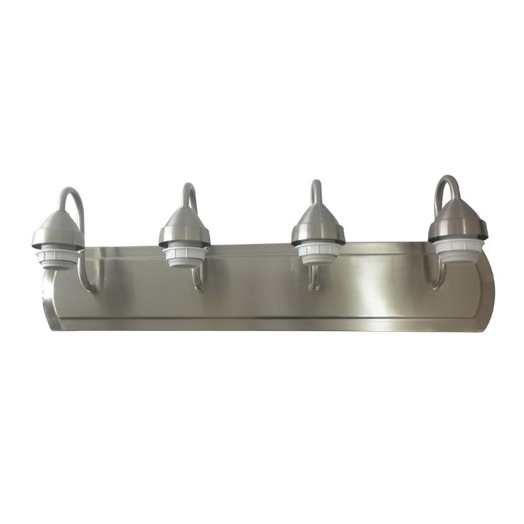 10 best silver light fixtures images on pinterest bathroom ideas shop portfolio brushed nickel bathroom vanity light at lowes canada find our selection of bathroom vanity lighting at the lowest price guaranteed with aloadofball Images