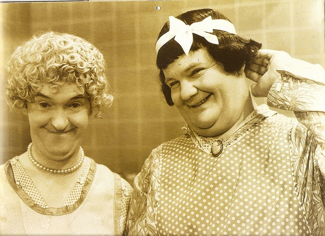 Mrs Hardy & Mrs Laurel in 'Twice Two' (1933) by petkenro, via Flickr