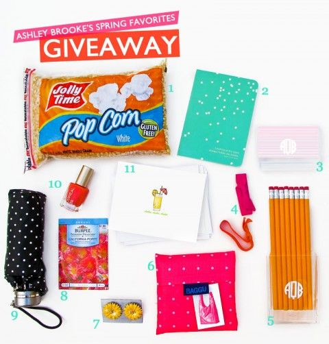 My Spring Favorites Giveaway is here!!! Head on over to the blog to enter for your chance to win this box of goodies!!  Enter here--> http://bit.ly/HEABm6  P.S. Don't forget to facebook, tweet, and repin this for extra entries!  (giveaway ends on April 18, 2012): Brooks Spring, Spring Favorite, Ashley Brooks, Brooks Design, Spring Giveaways, Blog Life, Abd Life, Favorite Giveaways, Fab Spring