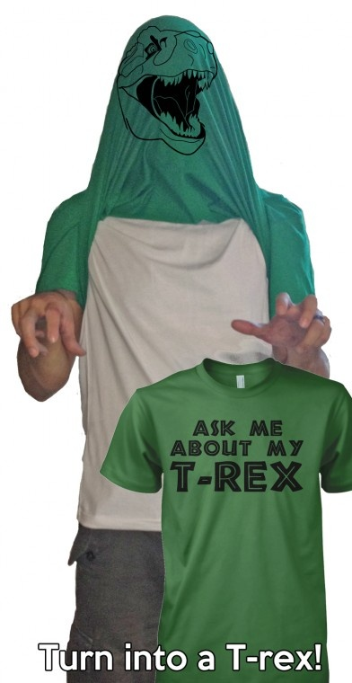 ask me about my t-rex t shirt | trex disguise tshirt --