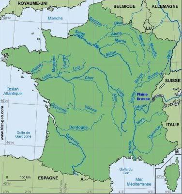Physical Map Of France Rivers France Map - France physical map