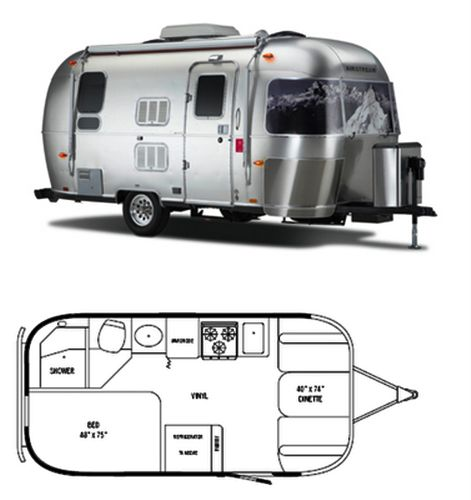 The Vintage Airstream Small Travel Trailer Floor Plan Vintage