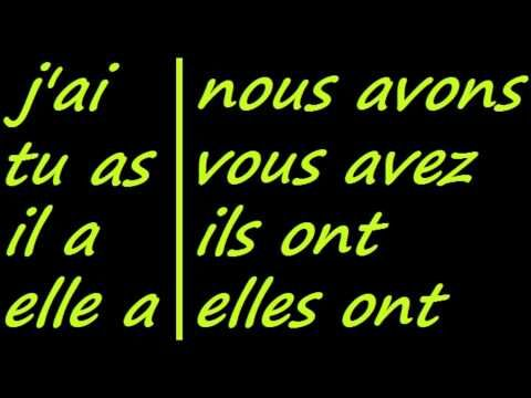 ♫ Avoir Conjugation Song ♫ French Conjugation ♫ Learn French ♫ - YouTube
