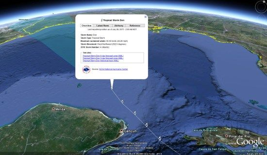 Track Hurricanes in Google Earth