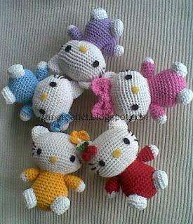 Hello Kitty ~ Zan Crochet, free pattern, amigurumi, stuffed toy, #haken, gratis patroon (Engels), knuffel, speelgoed, #haakpatroon