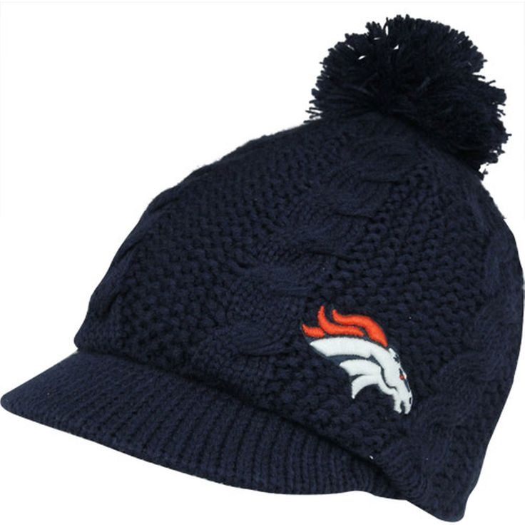 '47 Brand Denver Broncos Ladies Mount Snow Visor Beanie - Navy Blue