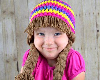 Espiral blanco y rosa gorro  col parche sombrero tejido por YumbabY