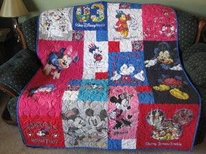 Mickey & Minnie Mouse T-shirt Quilt...this will have to go in my disney room!