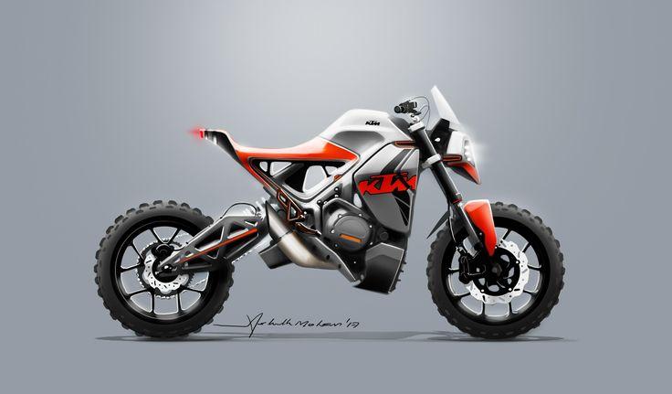 KTM dakar concept sketch. Illustration. Photoshop cs6.