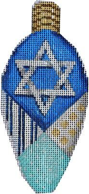 Large Hanukkah Light Bulb