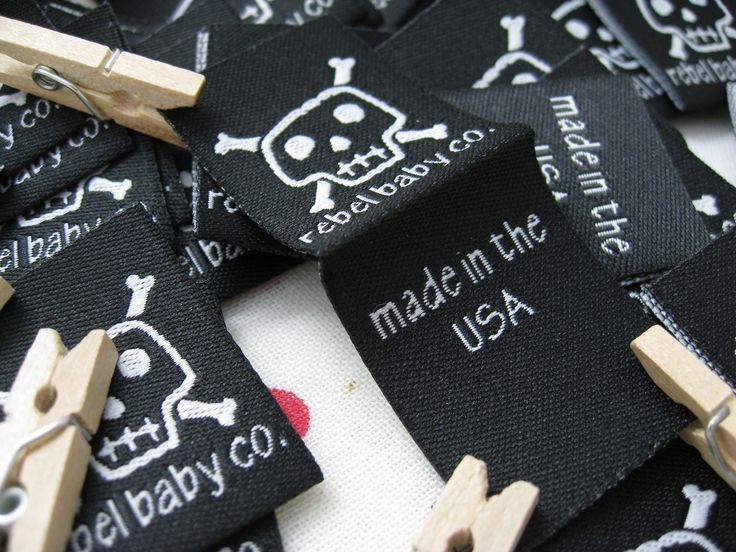 Custom clothing label 200pcs free shipping free design personalized center fold