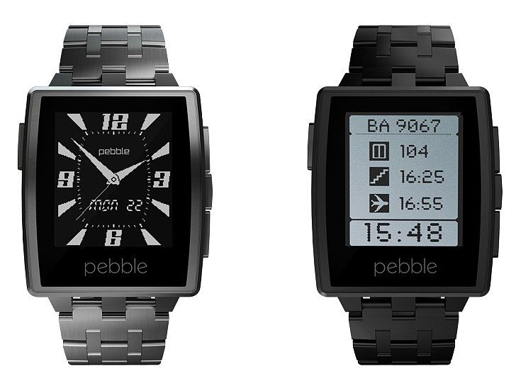 The Pebble steel watch is equipped with high quality metal, allowing it to stay on 7 days without a charge. Its high quality metal casing is low profile and elegantly designed.