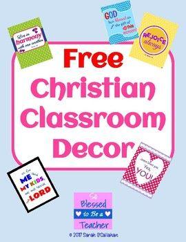 Christian Classroom Posters | Free Inspirational Classroom Decor