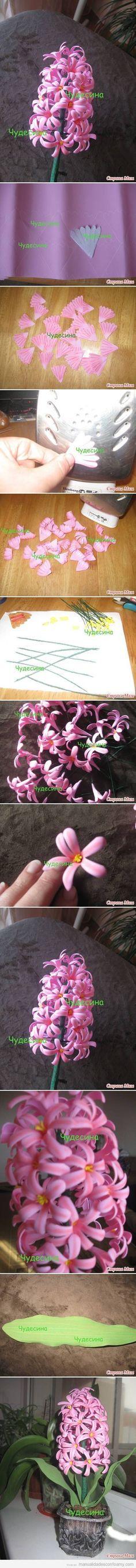 Tutorial para hacer un ramo de lilas paso a paso con goma eva