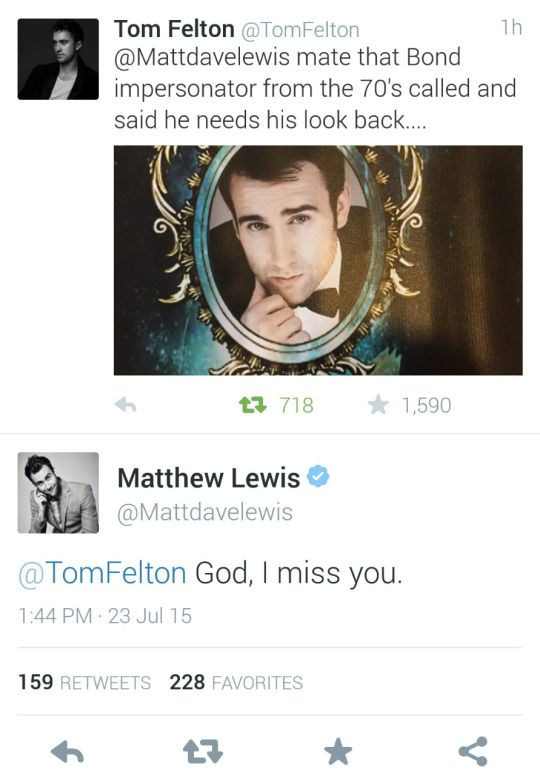 Tom Felton and Matthew Lewis I miss them all together