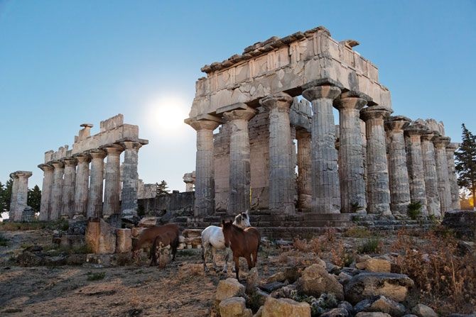 The 2,500-year-old Temple of Zeus at Cyrene, the only ancient Greek site among Libya's five World Heritage sites.
