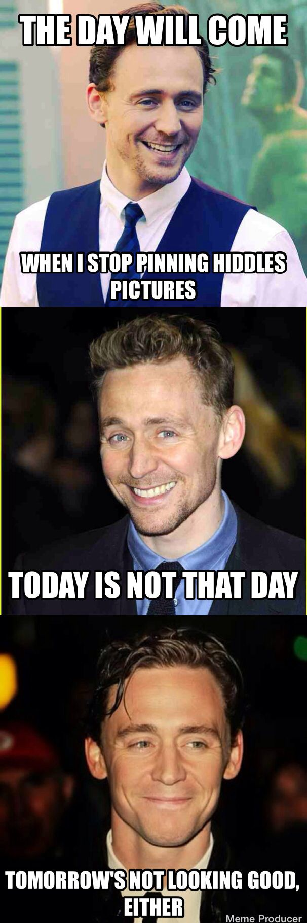 I don't think there will ever be a day I don't pin Hiddles. How can you not pin him?!