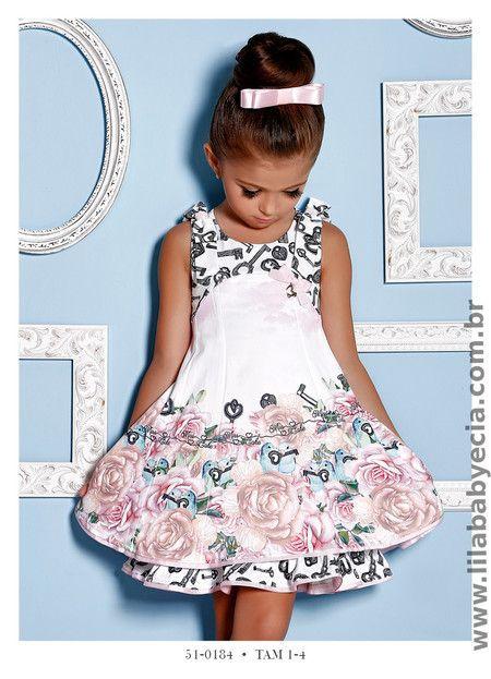 Vestido Infantil Miss Cake Doce Princesa 510184