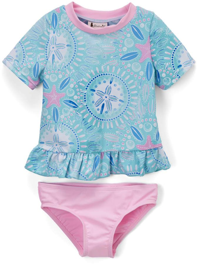 f2fde7dfff240 Blue Sand Dollar Rashguard & Bottoms - Infant, Toddler & Girls. Find this  Pin and more on Swimwear ...