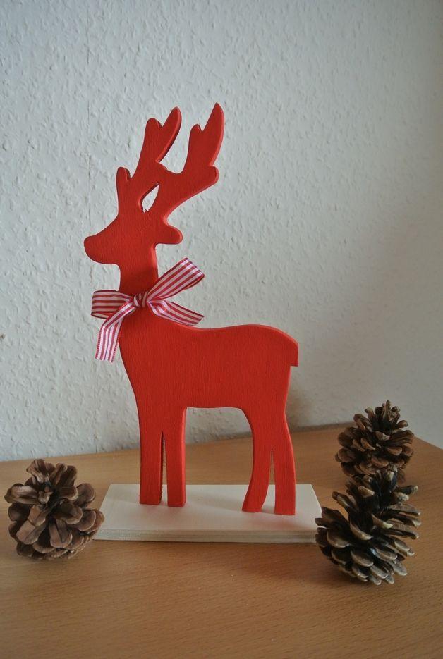Rood kerst hert