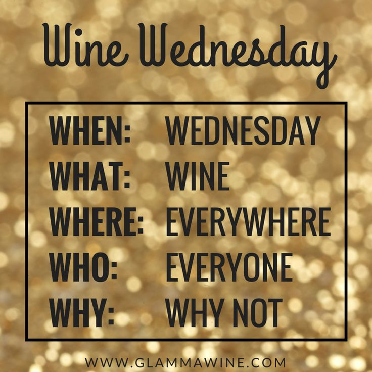 Wine Wednesday is a MUST! invitation & rules haha
