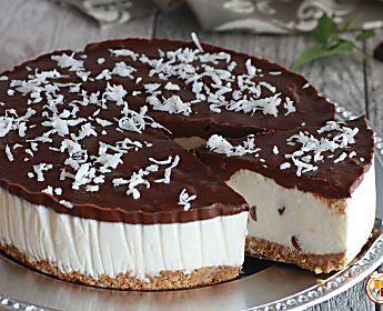 Torta Fredda Cocco e Cioccolato - Ricetta Golosa