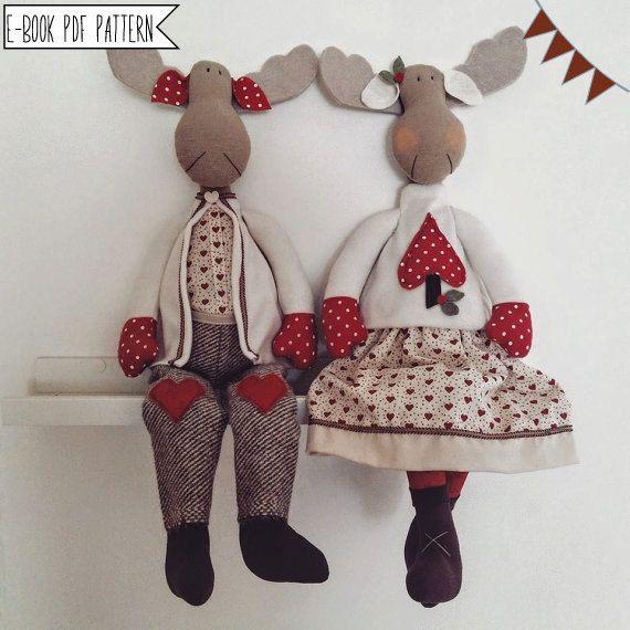 Pdf sewing pattern Reindeers-Tutorial Santa Claus Christmas
