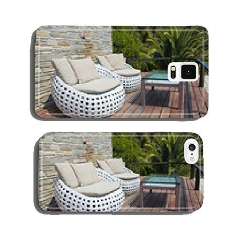white outdoor furniture on wood resort terrace cell phone cover case iphone6 want