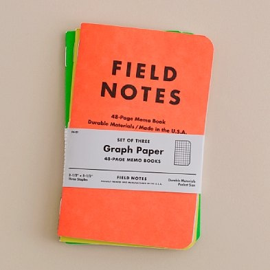 neon field notes notebook 3-pack