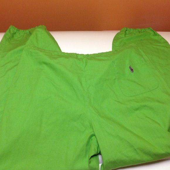 Ralph Lauren lime green pants Lime green pants   Size large elastic at bottoms of pant legs. Ralph Lauren Pants Straight Leg