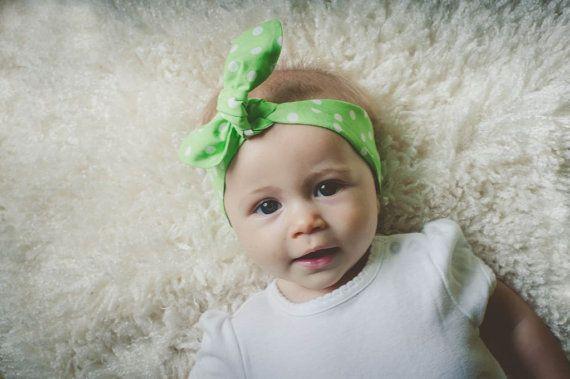 Baby bow headband baby girl headband cool summer by ElleBelleBliss