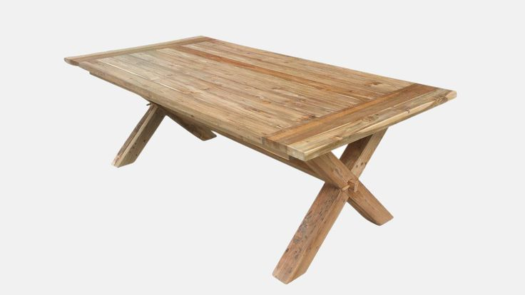Teak Cross 220 x 110cm Dining Table from The Furniture Shack
