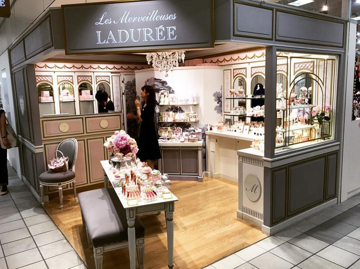 "LADUREE, Shinjuku, Tokyo, Paris, ""We are open-Rain or Shine"", photo by Windows Of World, pinned by Ton van der Veer"