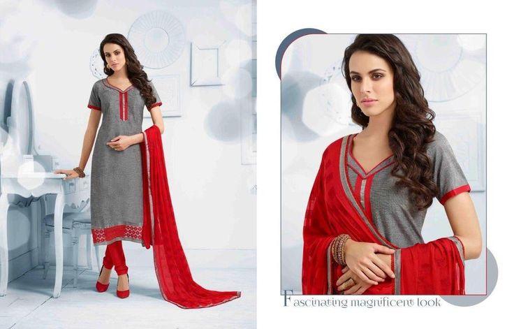 Indian Grey Anarkali Bollywood Pakistani Salwar Kameez Designer Ethnic 1774…