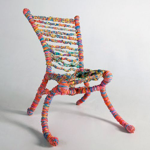 furniture made of recycled materials. 65 000 élastiques \u003d 1 Chaise Par Preston Moeller Furniture Made Of Recycled Materials