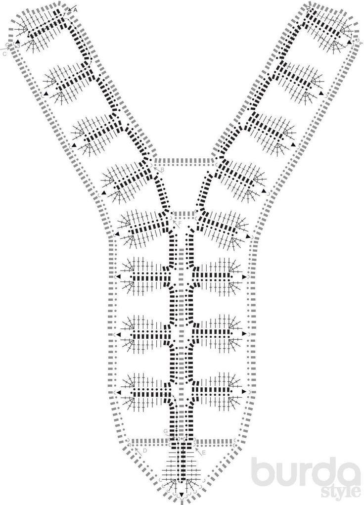 Декор для платьев, связанный крючком