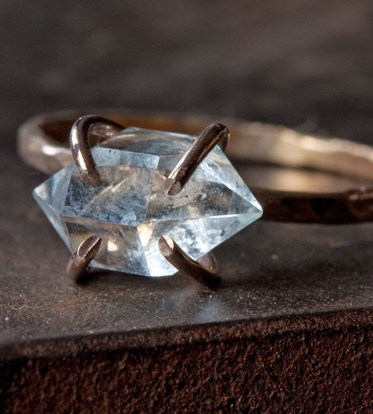 Herkimer Diamond Rose Gold Ring | Jewelry Rings | Alexis Russell | Scoutmob Shoppe | Product Detail