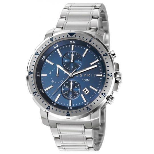 ESPRIT Ανδρικό Ρολόι με Μπρασελέ και Μπλε Καντράν. Θα το βρεις στο e-shop μας με 20% έκπτωση.