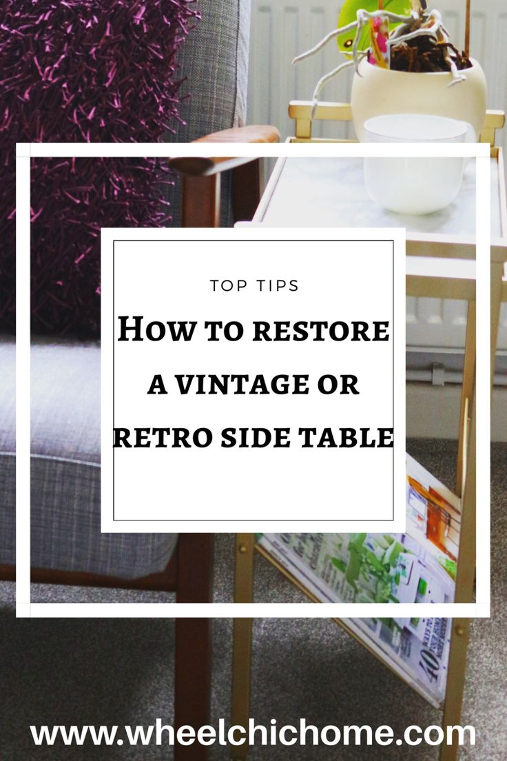 If you're looking for ideas on how to recycle or upcycle and old table, take a look at my ideas on the blog. My blog post looks at ideas for painting an old vintage end table to give it a new lease of life, head to the blog for more details on how to spray paint and old table