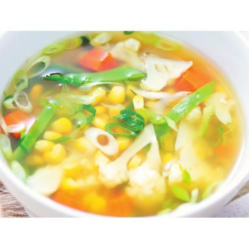 how to make clear broth vegetable soup