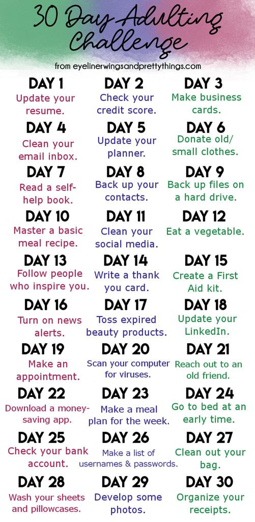 30 Day Adulting Challenge