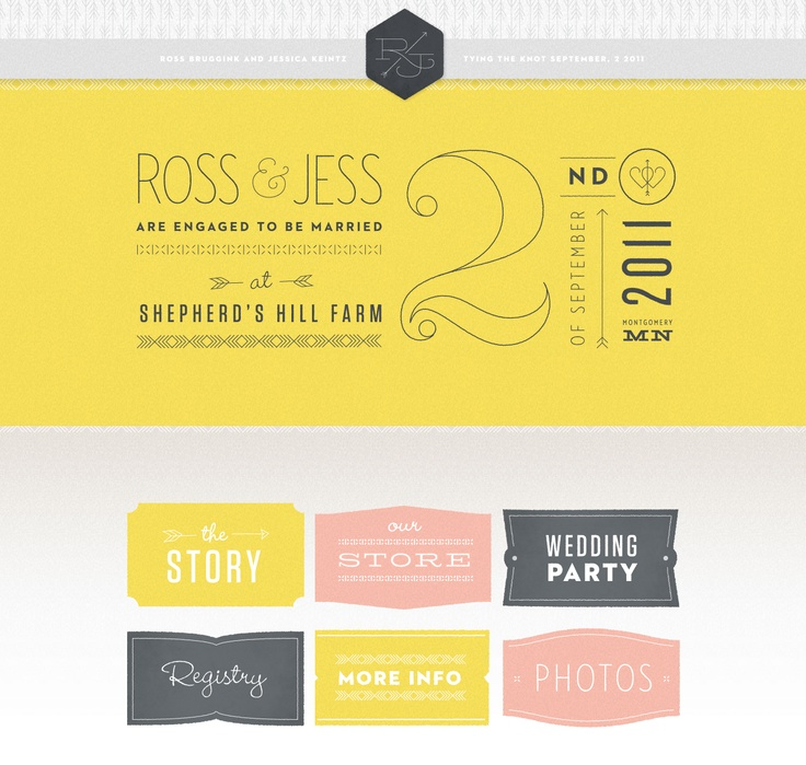 awesome wedding website. great color